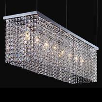 NEWPORT 1508/S , Подвесной светильник, Chrome Clear crystal L123*28*H30 + цепь 100 cm E14 8*60W(М0045893)