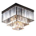 NEWPORT 31105/PL black+gold , Потолочный светильник, Black+gold Clear crystal 40*40*H32 cm E14 5*60W(М0055006)