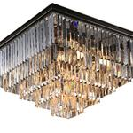 NEWPORT 31112/PL black+gold , Потолочный светильник, Black+gold Clear crystal 60*60*H38 cm E14 12*60W(М0055007)