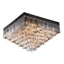 NEWPORT 31117/PL black+gold , Потолочный светильник, Black+gold Clear crystal 80*80*H49 cm E14 17*60W(М0055008)