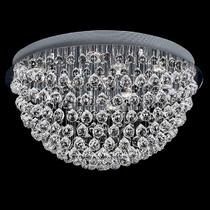 NEWPORT 8113/55PL , Потолочный светильник, Chrome Clear crystal D80*H55 cm GU10 12*50W(М0055945)