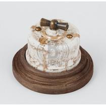 Выключатель двухклавишный мрамор керамика BIRONI В1-202-09