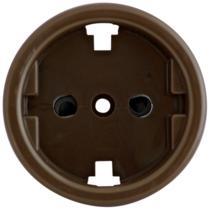 Вставка евророзетки скрытой установки коричневый BIRONI В3-061-22