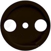 Накладка R/TV-Sat, цвет коричневый коричневый BIRONI В3-064-22