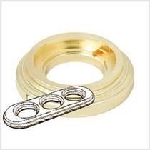 Рамка 3-х постовая золото металл BIRONI BF1-630-31