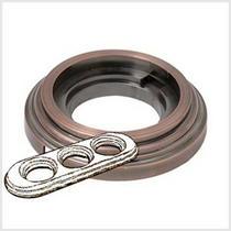 Рамка 3-х постовая античная медь металл BIRONI BF1-630-34