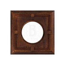 Рамка одноместная квадрат винтаж дерево BIRONI BF4-610-181
