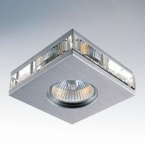 002109 (004020) Светильник ALUME QUAD LO MR16/HP16 АЛЮМ ХРОМ/ПРОЗРАЧНЫЙ