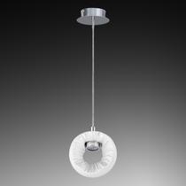 104616 Светильник LED 3W ХРОМ/БЕЛЫЙ подвесной