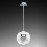 104636 Светильник LED 5W ХРОМ/БЕЛЫЙ подвесной