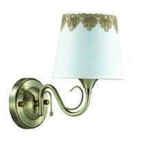 2998/1W LN16 025 бронзовый/декор. стекло/ткань Бра Е14 1*40W 220V PLACIDA