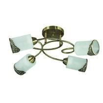 3012/4C LN16 087 бронзовый/стекло/метал. декор Люстра потолочная E27 4*40W 220V CITADELLA