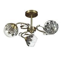 3067/3C LN16 120 бронзовый/стекло/метал. декор Люстра потолочная E14 3*40W 220V FELISSA