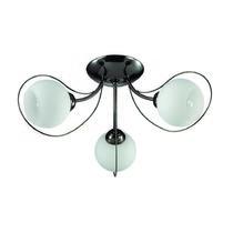 3083/3C LN16 101 темный хром/стекло/метал. декор Люстра потолочная E14 3*40W 220V ARIA