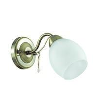 3145/1W LN16 084 бронзовый/стекло/декор.цепочки Бра E27 60W 220V VERONICA