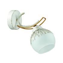 3247/1W LN16 150 белый/зол.патина/золото/стекло/метал. декор Бра E14 1*60W 220V SERISA