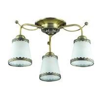 3266/3C LN16 012 бронзовый/стекло/метал.декор Люстра потолочная E27 3*60W 220V ABBI
