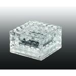 357243 NT15 056 прозрачный Ландшафтный светильник IP68 4LED белых 0,75W 1,2V TILE