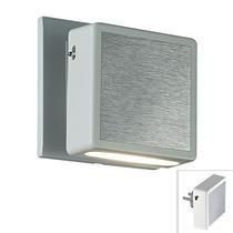 357319 NT16 068 белый/алюминий Светильник-ночник (в розетку) с выкл IP20 6LEDx0.2W 220V NIGHT LIGHT