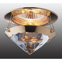 369336 NT09 327 золото/прозрачный Встраиваемый светильник IP20 GX5.3 50W 12V GLAM