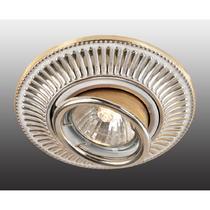 369859 NT14 118 белый/золото Встраиваемый ПВ светильник IP20 GX5.3 50W 12V VINTAGE
