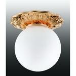 369979 NT15 268 золото/стекл.матов.плафон Встраиваемый светильник IP44 G9 40W 220V SPHERE