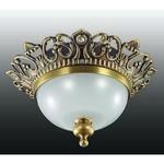 369980 NT15 176 светлая бронза/стекл.матов.плафон Встраиваемый светильник IP20 GX5.3 50W 12V BAROQUE