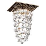 369995 NT15 106 коричневый/золото/хрусталь Встраиваемый светильник IP20 GX5.3 50W 12V GRAPE