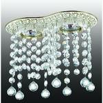 370019 NT15 102 белый/золото Встраиваемый светильник IP20 GX5.3 2*50W 220V GRAPE