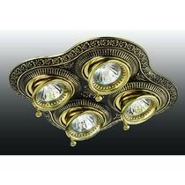 370180 NT15 114 коричневый/золото Встраиваемый ПВ светильник IP20 GX5.3 4*50W 12V VINTAGE
