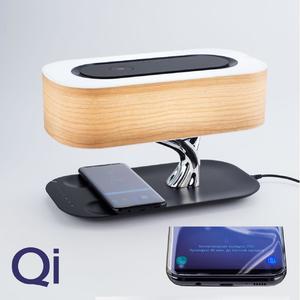 настольная лампа+колонка bluetooth + зарядка беспроводная
