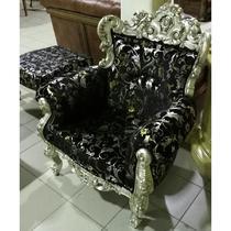 кресло с пуфом  в стиле арт деко