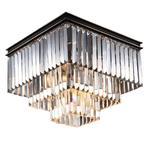 NEWPORT 31105/PL black+gold , Потолочный светильник, Black+gold Clear crystal 40*40*H32 cm E14 5*60W(М0055006)