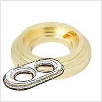Рамка 2-х постовая золото металл BIRONI BF1-620-31