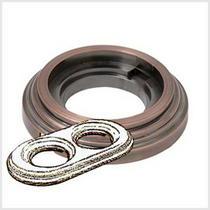 Рамка 2-х постовая античная медь металл BIRONI BF1-620-34