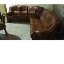 диван угловой модульный Честер коричневая кожа