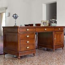 Стол письменный, 2 тумбы Артикул: BJ915M Бурбон МОНТЕ КРИСТО МОБИЛИ (Bourbon MONTE CRISTO MOBILI)